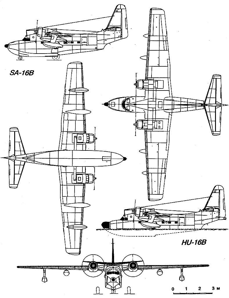 HU-16 Albatross blueprint