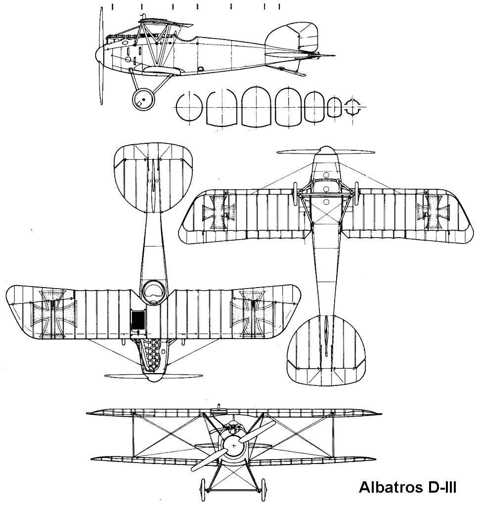 Albatros D.III blueprint