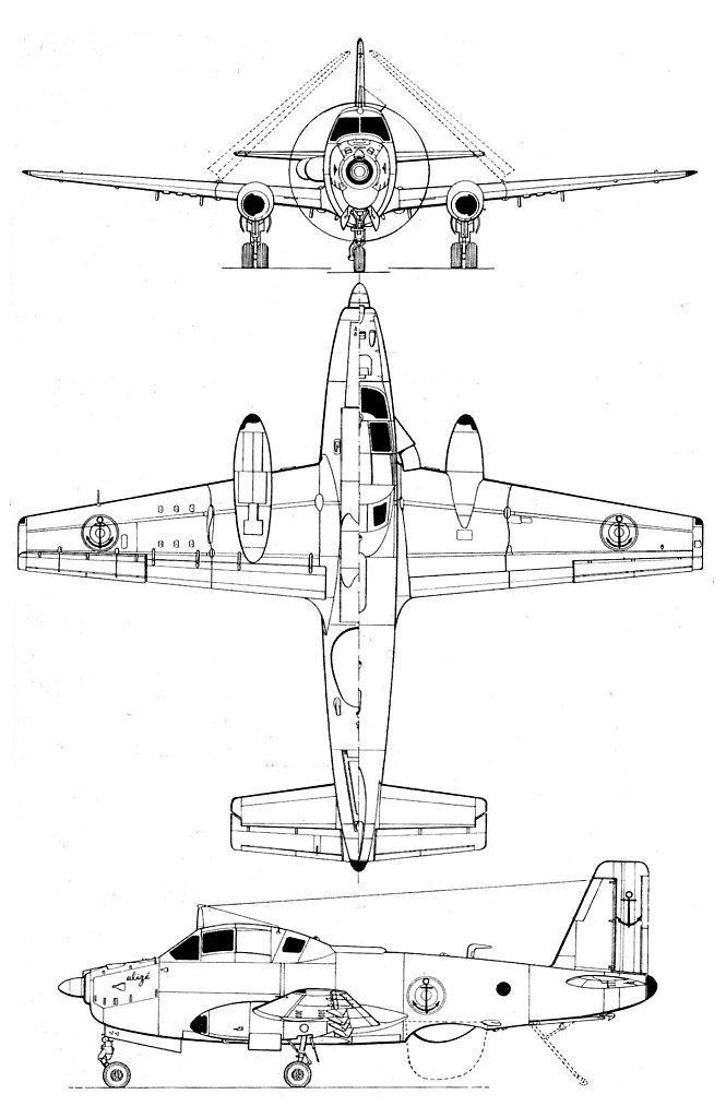 Breguet Alize blueprint