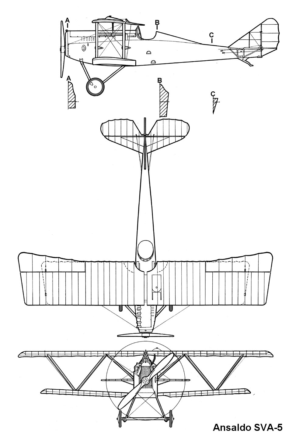 Ansaldo SVA.5 blueprint