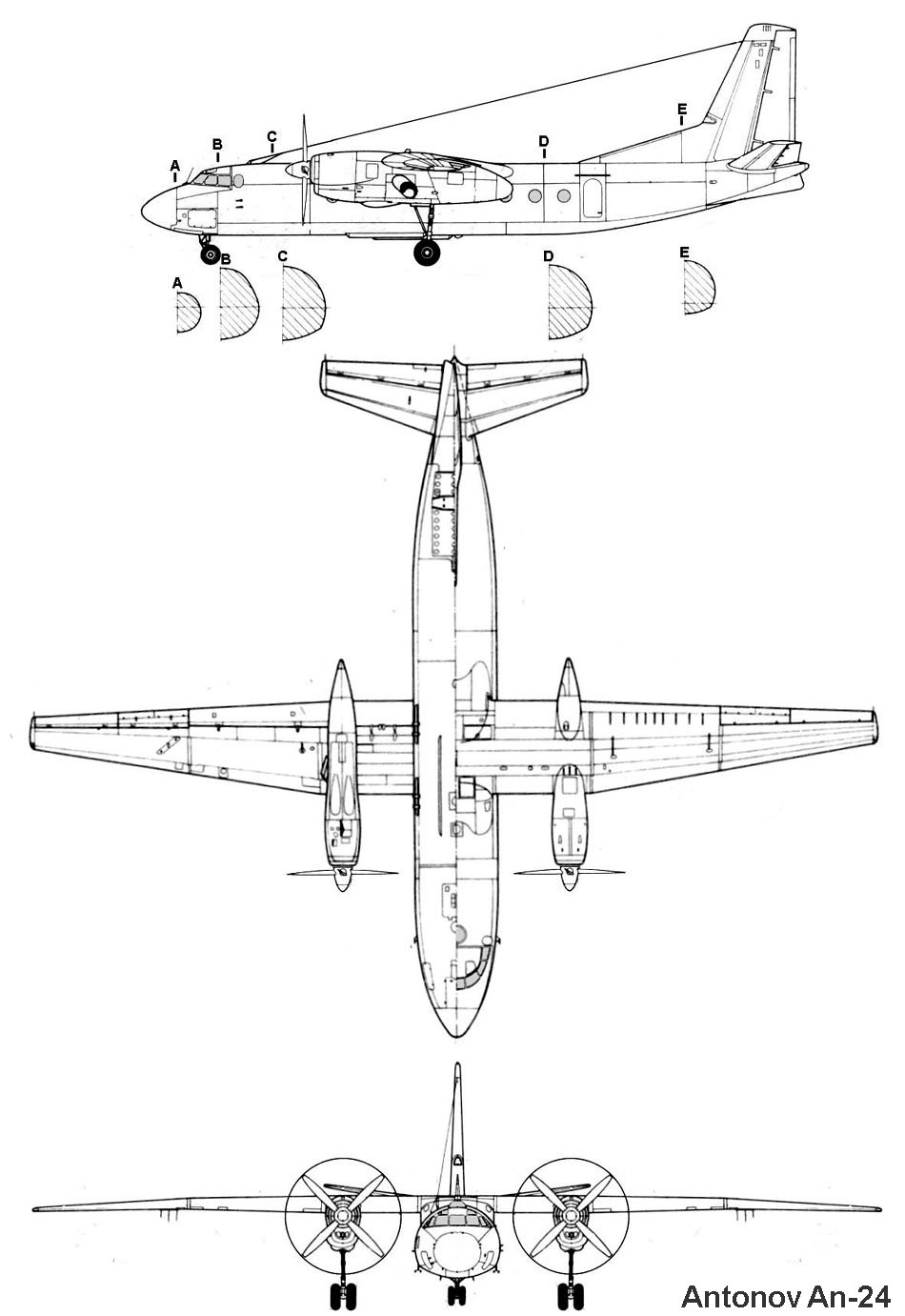 An-24 blueprint