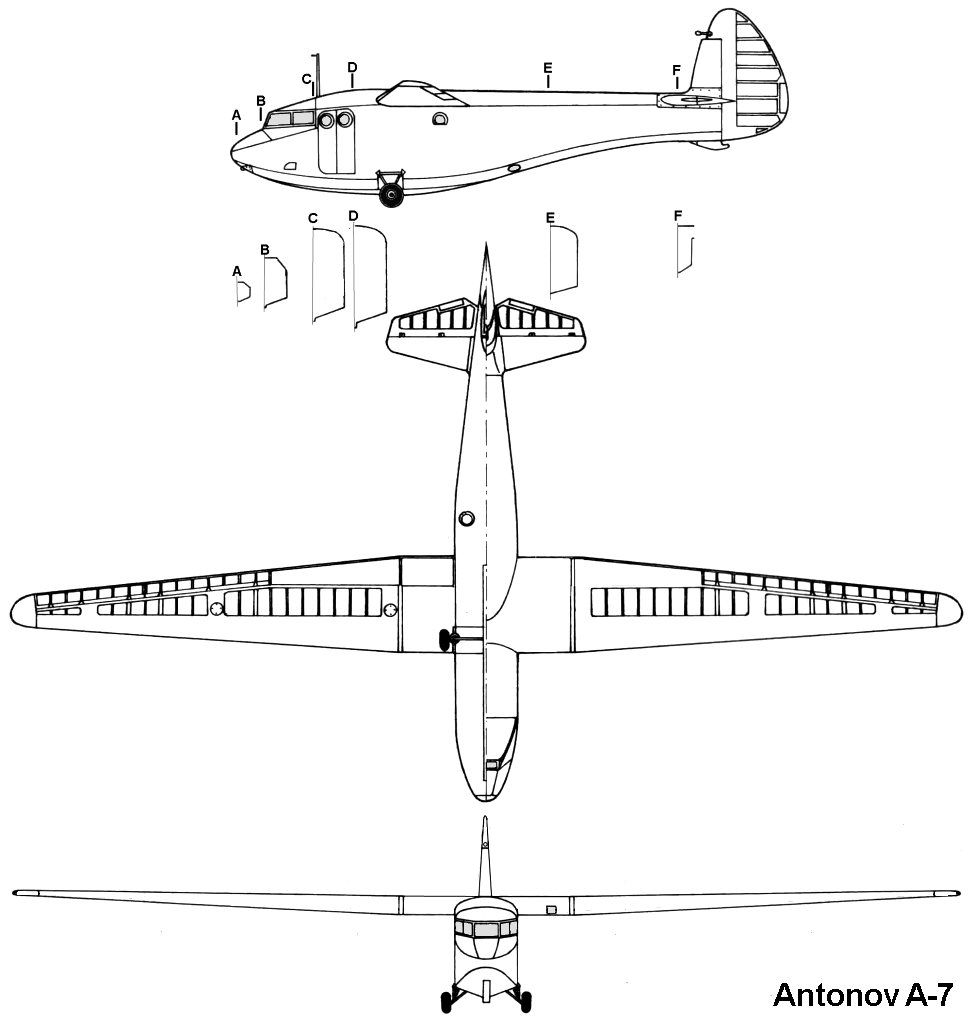 Antonov A-7 blueprint
