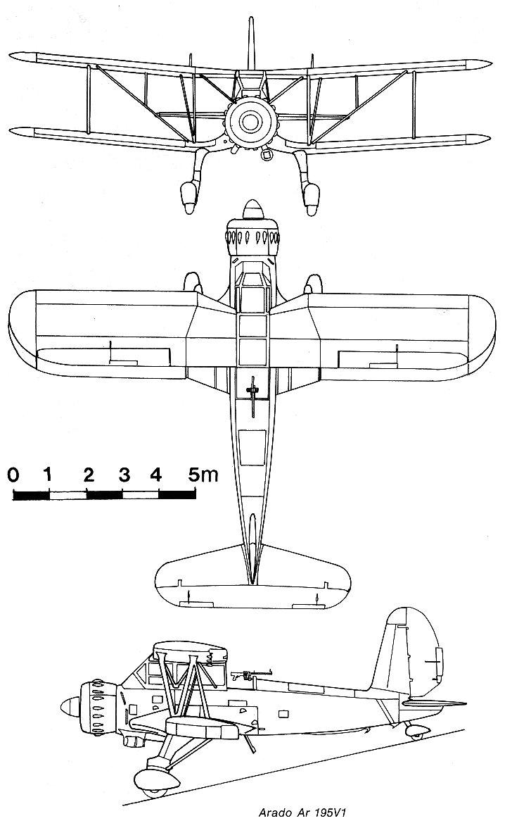 Arado Ar 195 blueprint