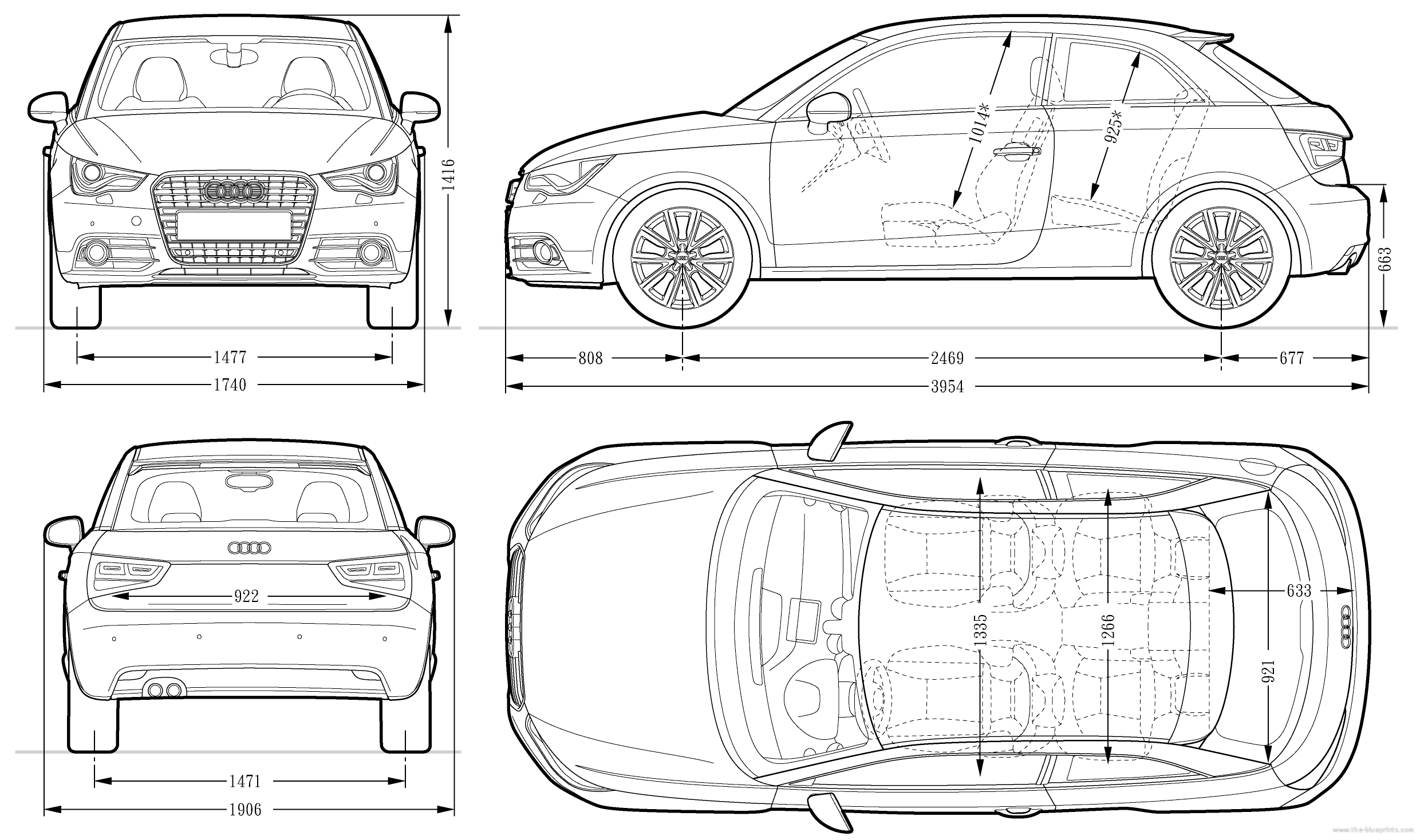 Audi A1 Blueprint Download Free Blueprint For 3d Modeling