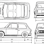 Autobianchi A112 Abarth blueprint