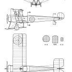 Avro 504K blueprint