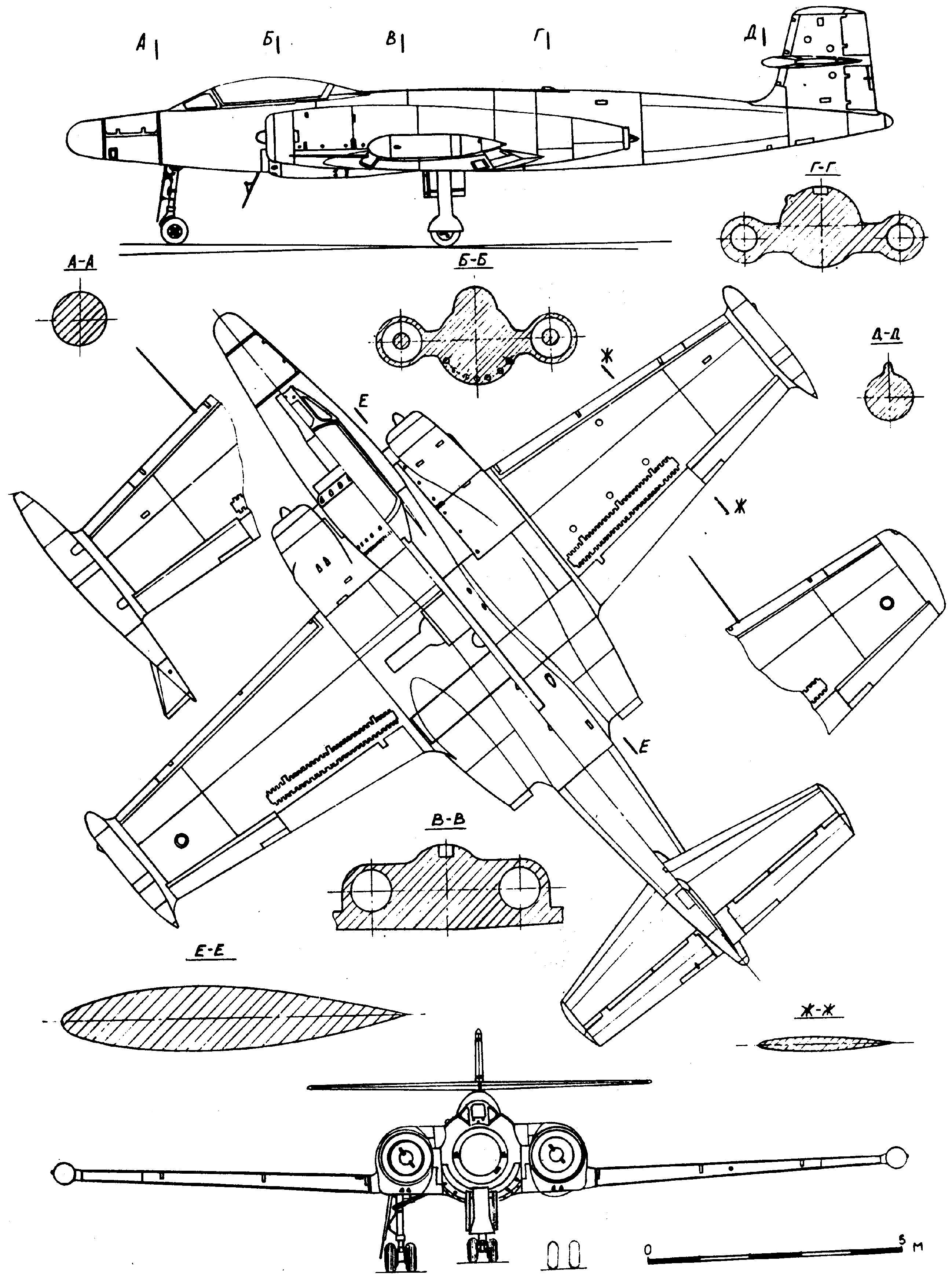 CF-100 Canuck blueprint