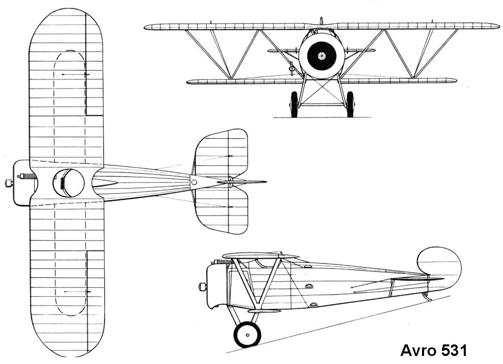 Avro 531 blueprint