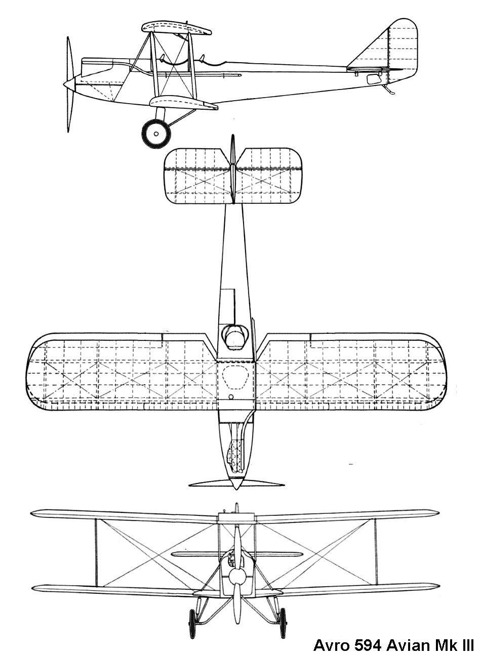 Avro 594 Avian III blueprint