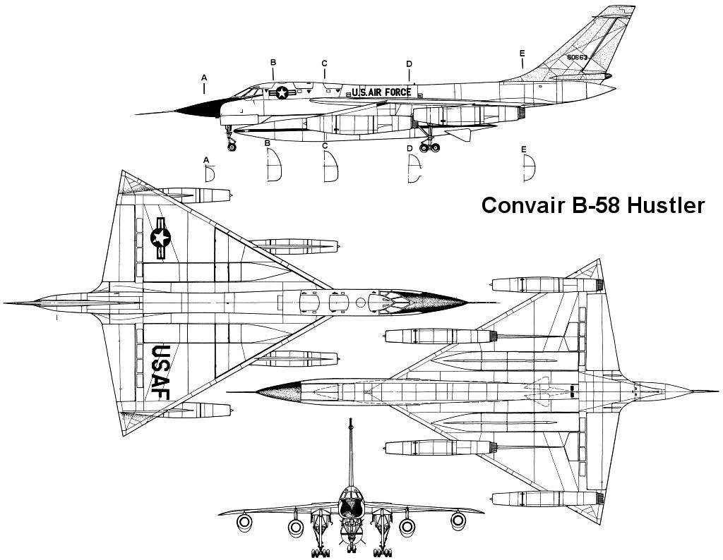 B-58 Hustler blueprint