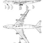 Boeing 747 blueprint