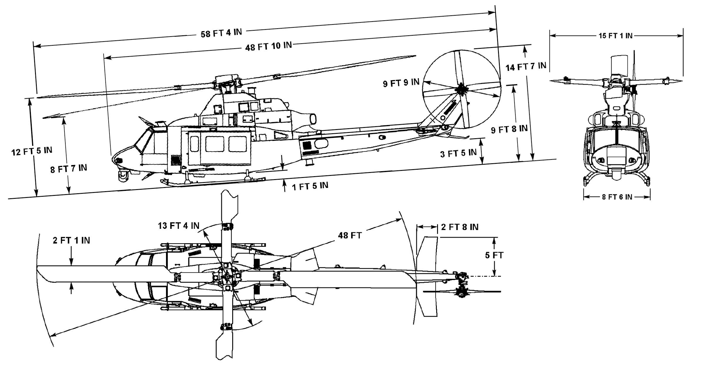Bell UH-1Y Venom blueprint