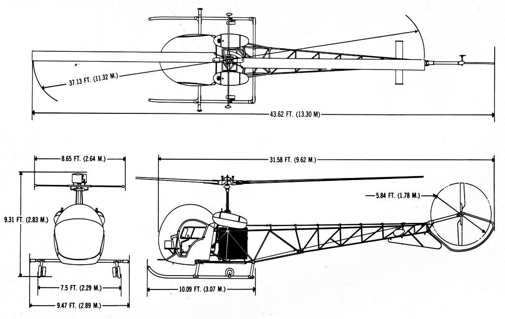 Bell 47g Blueprint Download Free Blueprint For 3d Modeling