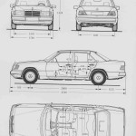 Mercedes-Benz W124 blueprint