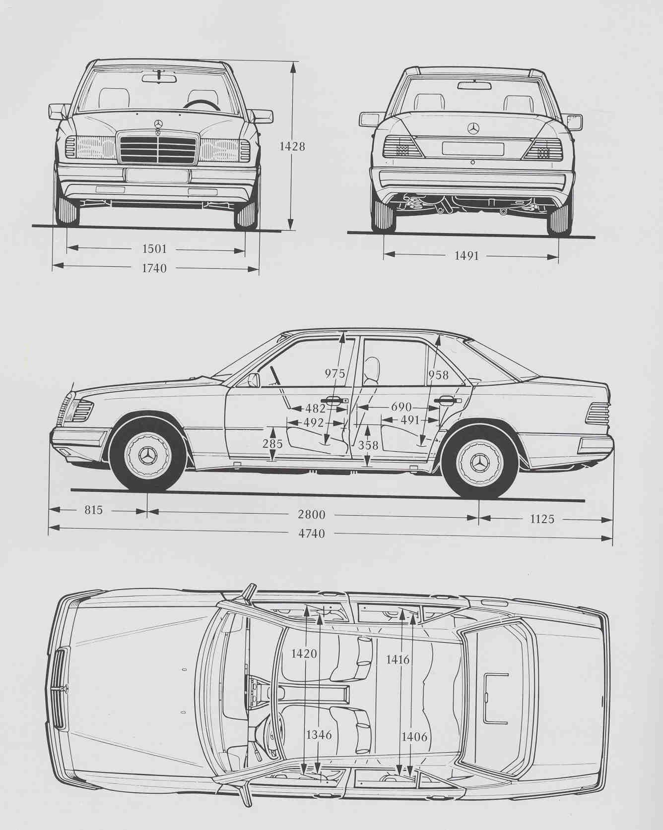 mercedes-benz w124 blueprint