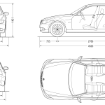 BMW 3-Series E90 blueprint