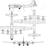 B-29 Superfortress blueprint