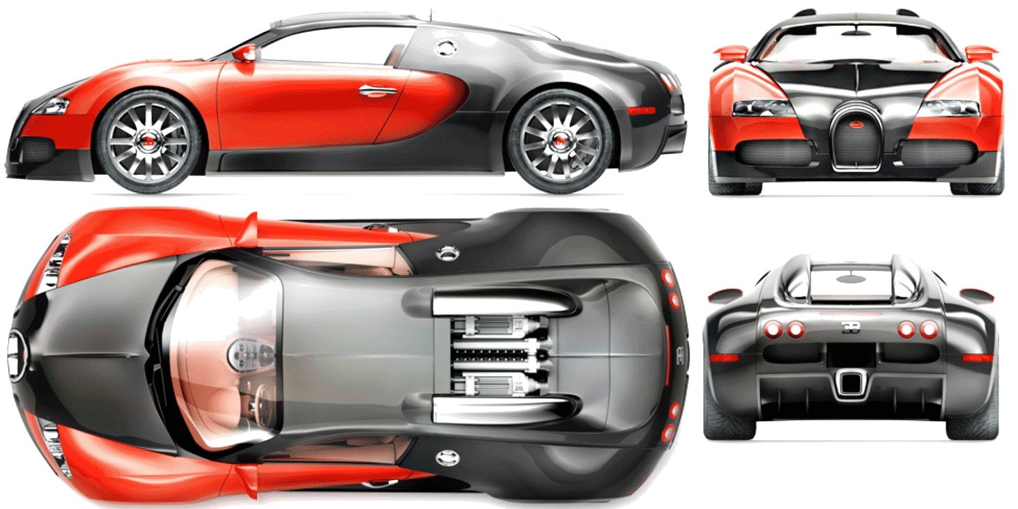 Bugatti veyron blueprint download free blueprint for 3d modeling bugatti veyron blueprint malvernweather Image collections