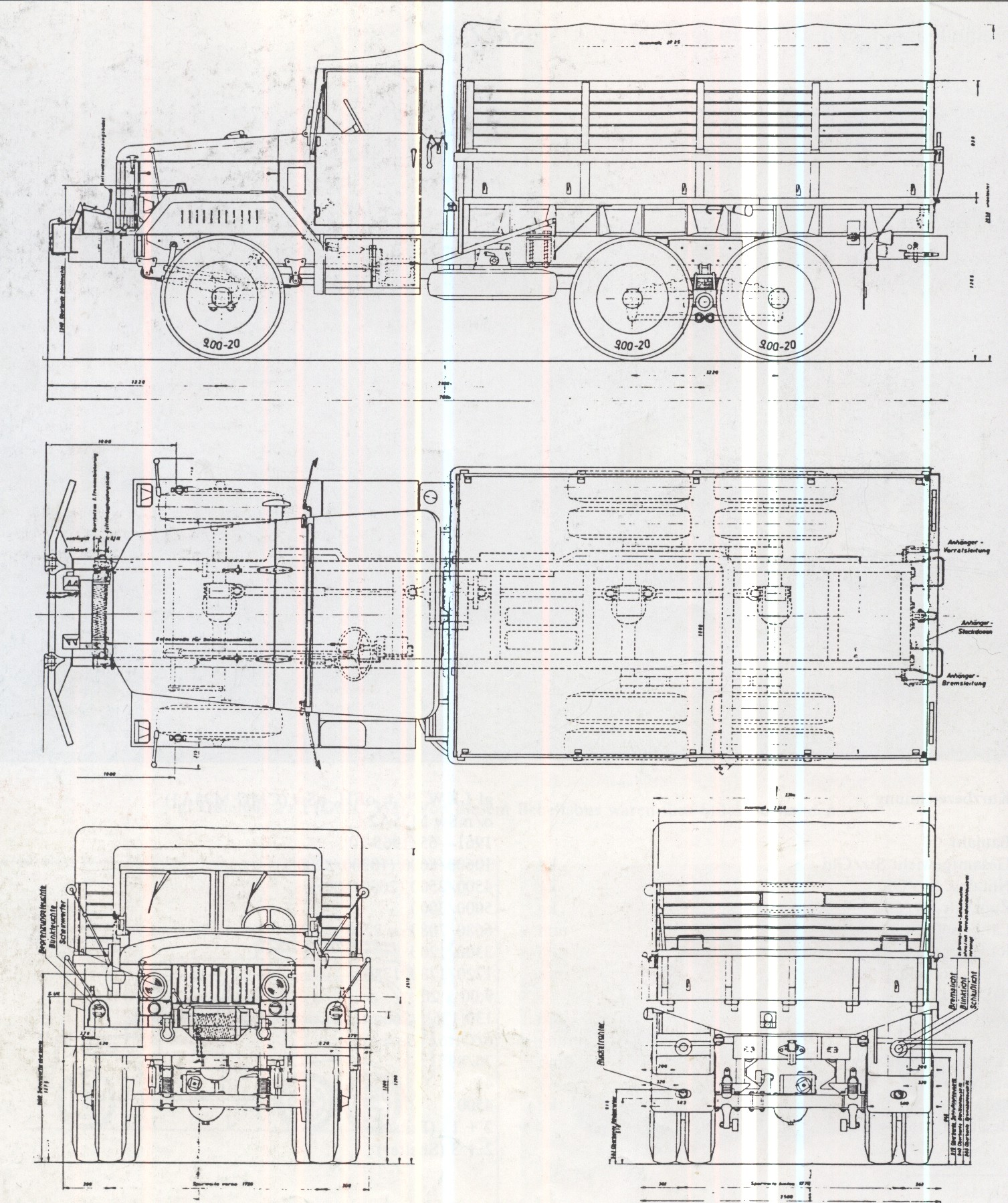 M35 truck blueprint