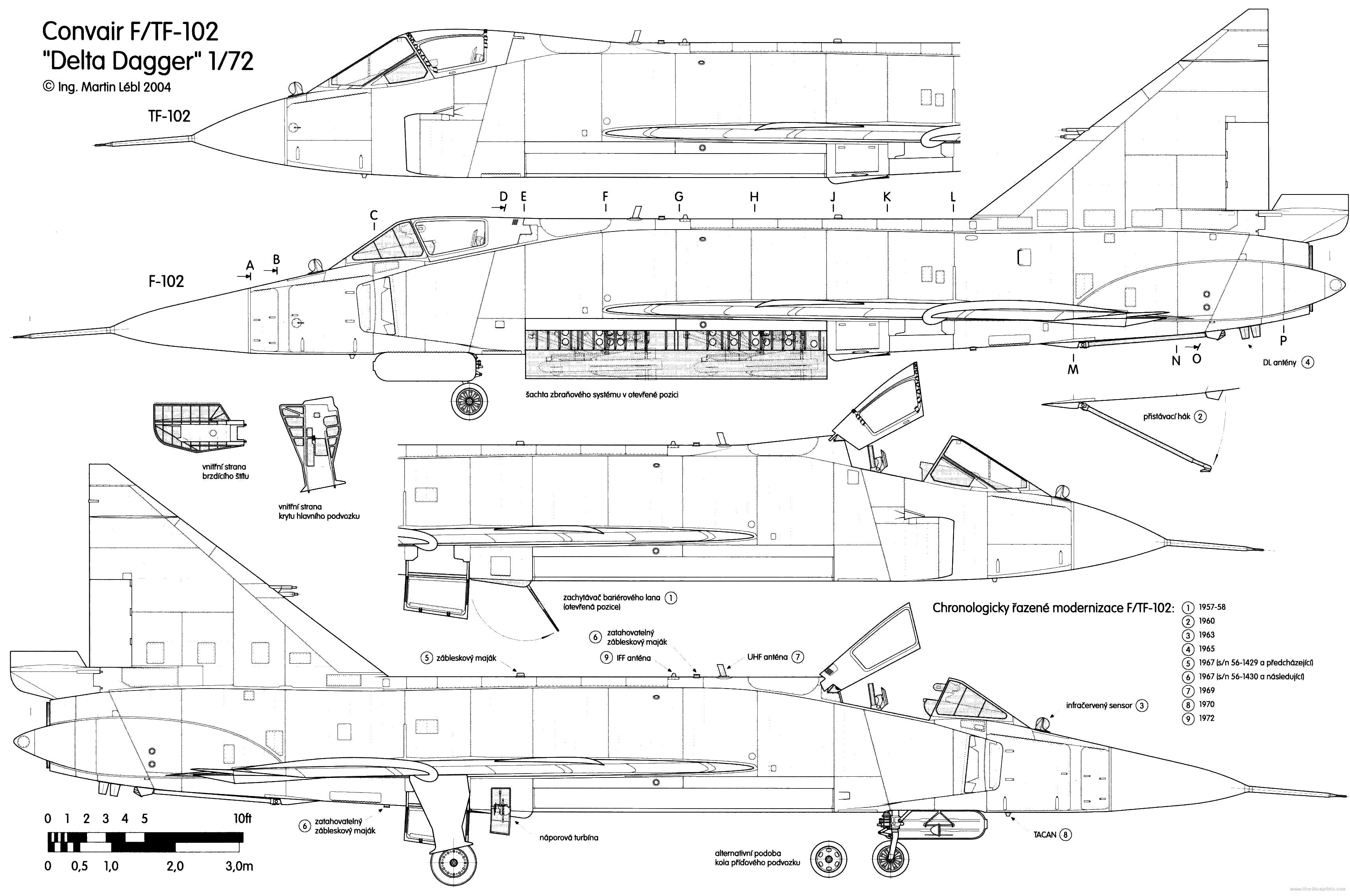 Convair F-102 Delta Dagger blueprint
