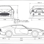 Aston Martin DB7 Zagato blueprint