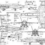 F/A-18 Hornet blueprint