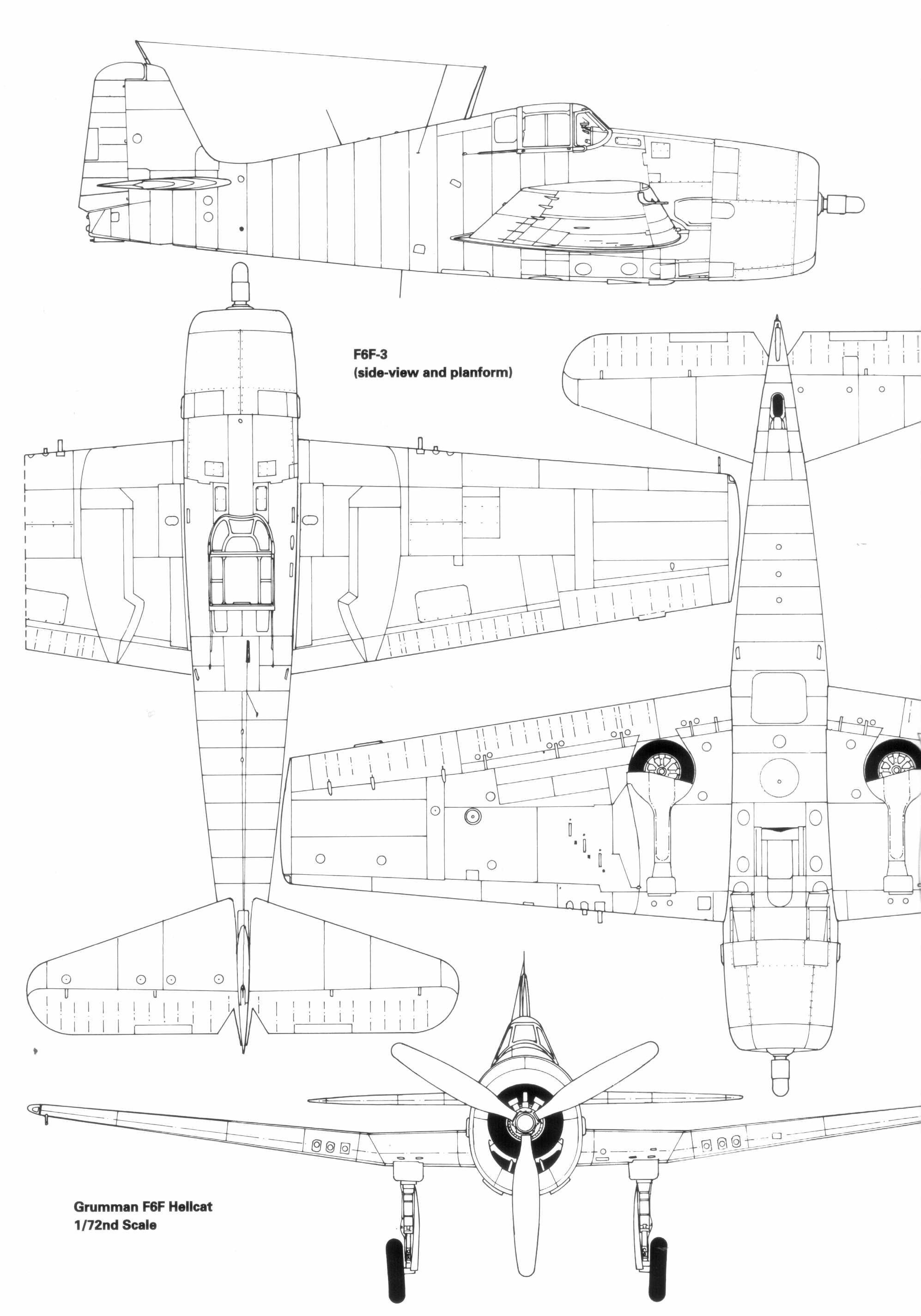 F6F Hellcat blueprint
