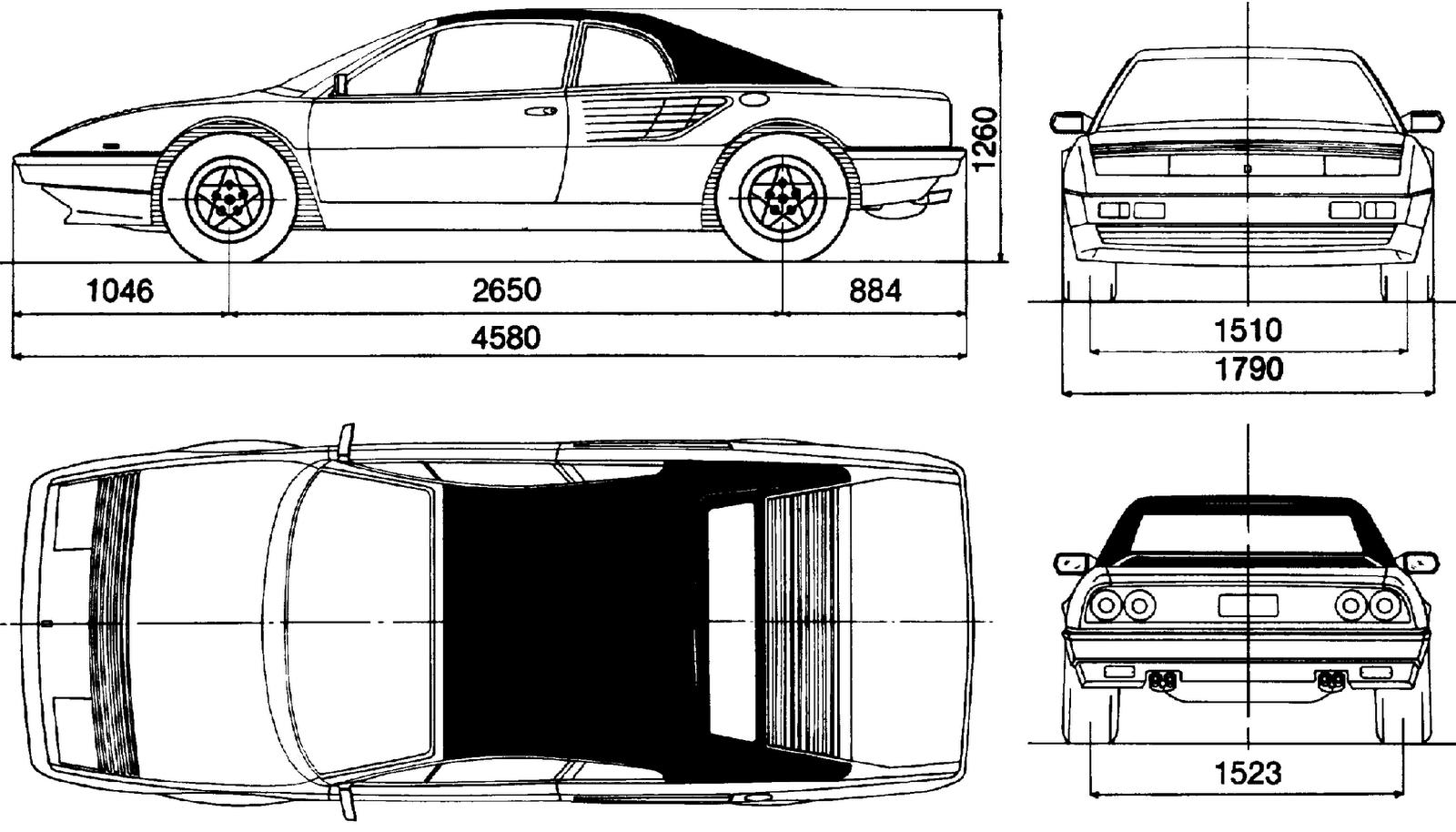 Ferrari Mondial blueprint