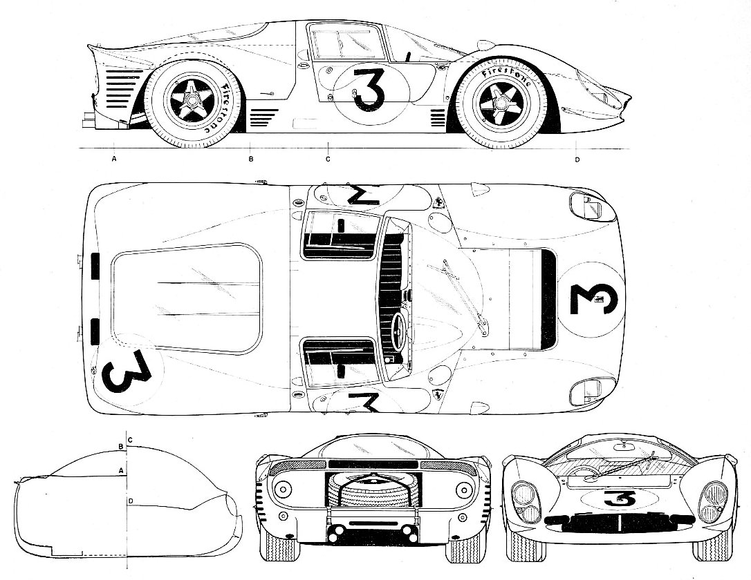 Ferrari 330 P4 blueprint