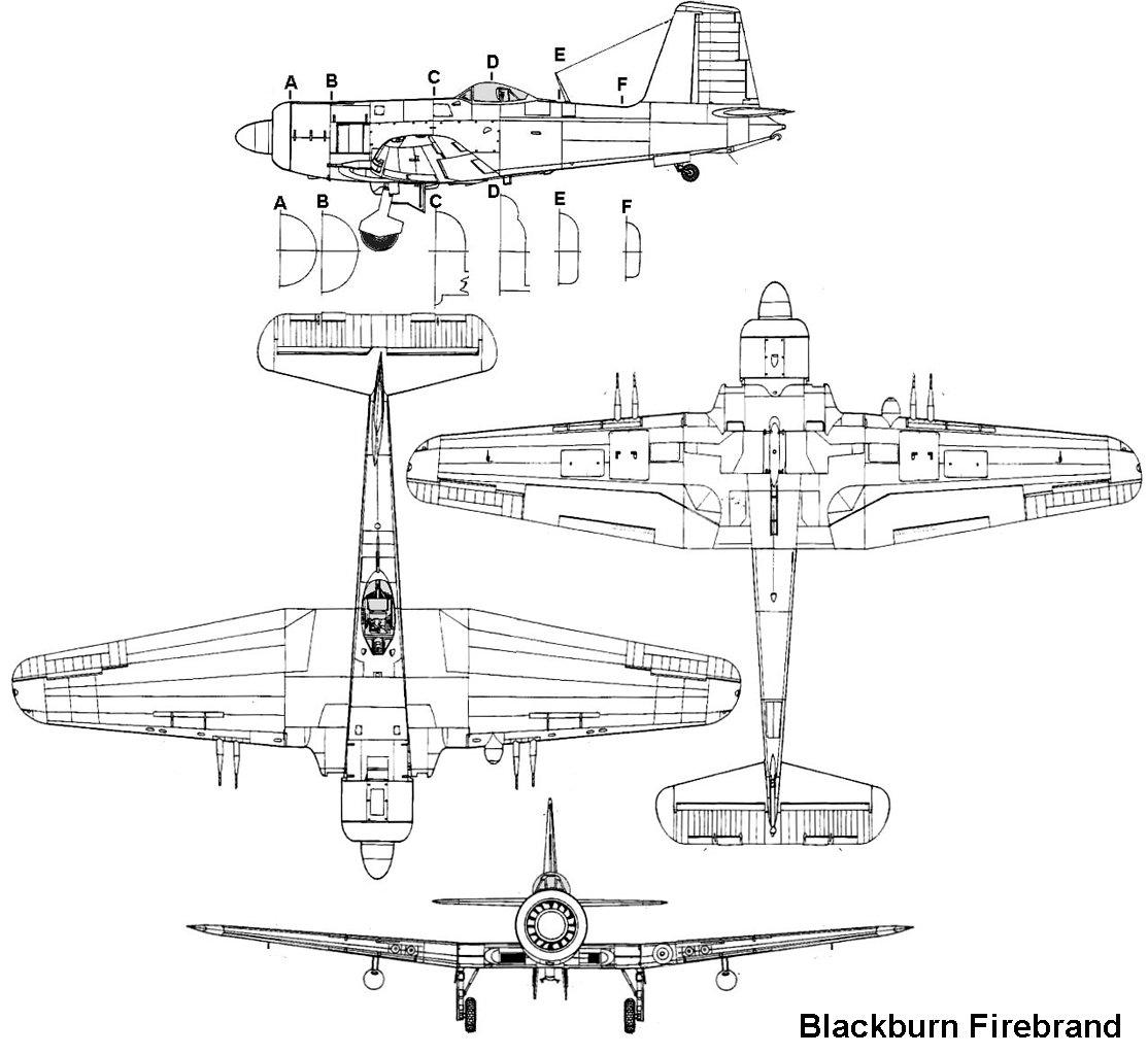 Blackburn Firebrand blueprint