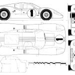 Ford GT40 blueprint