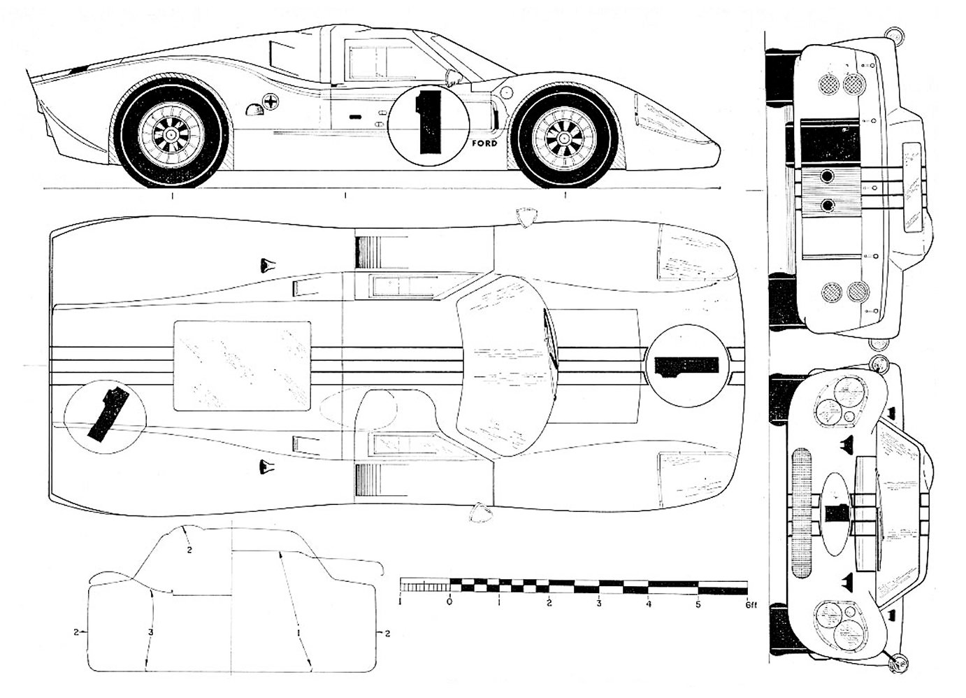 Ford GT40 blueprint