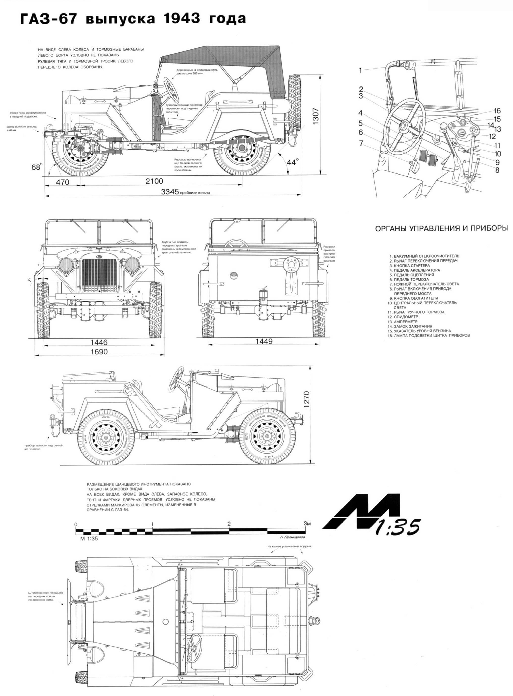GAZ-67 blueprint
