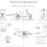 Vespa Sprint blueprint