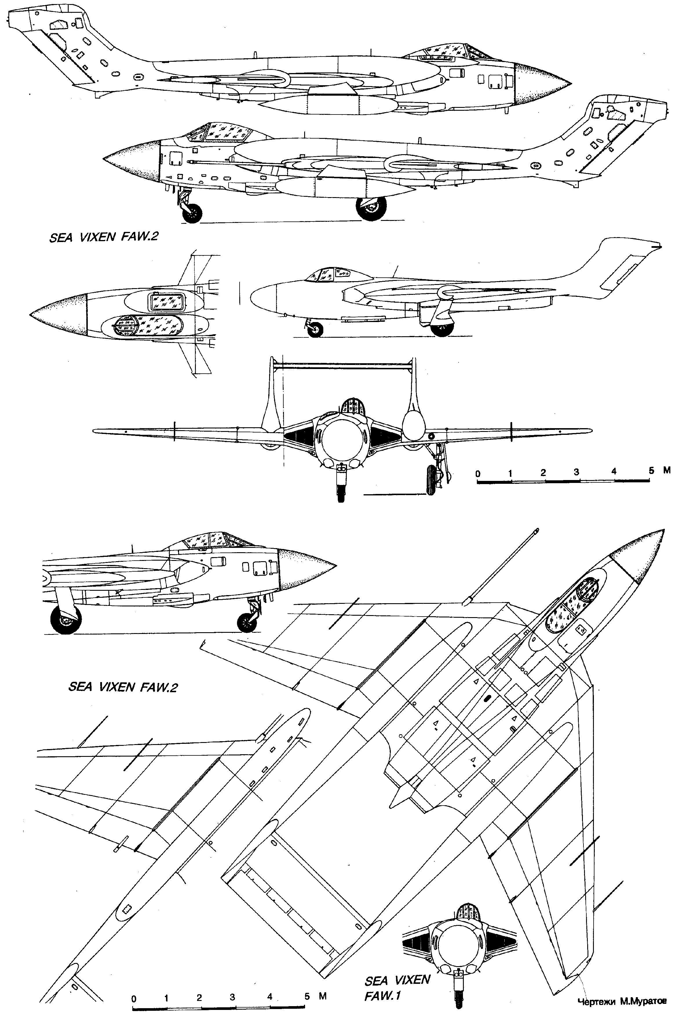 de Havilland Sea Vixen blueprint