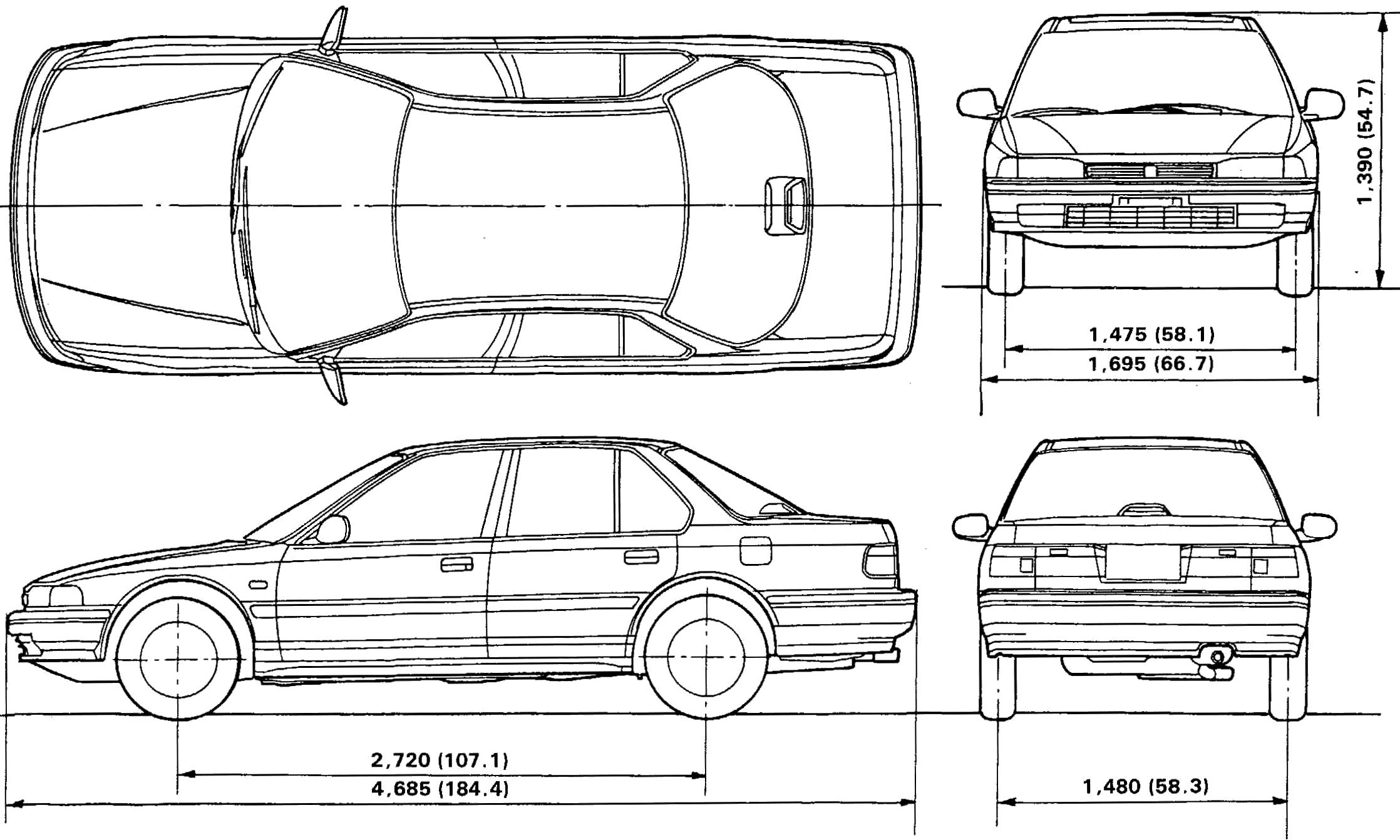 Honda Accord blueprint
