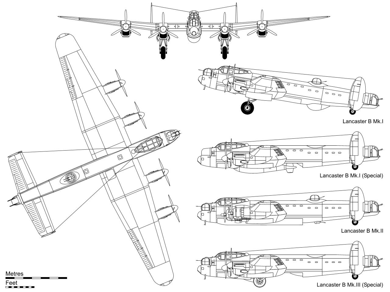 Avro Lancaster blueprint