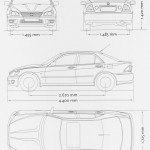 Lexus IS300 blueprint