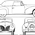 Lincoln Zephyr blueprint