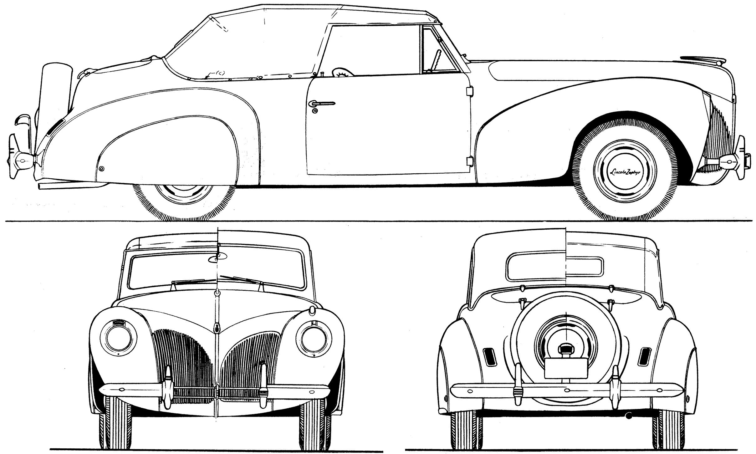 Lincoln Zephyr V12 1940 Blueprint Download Free