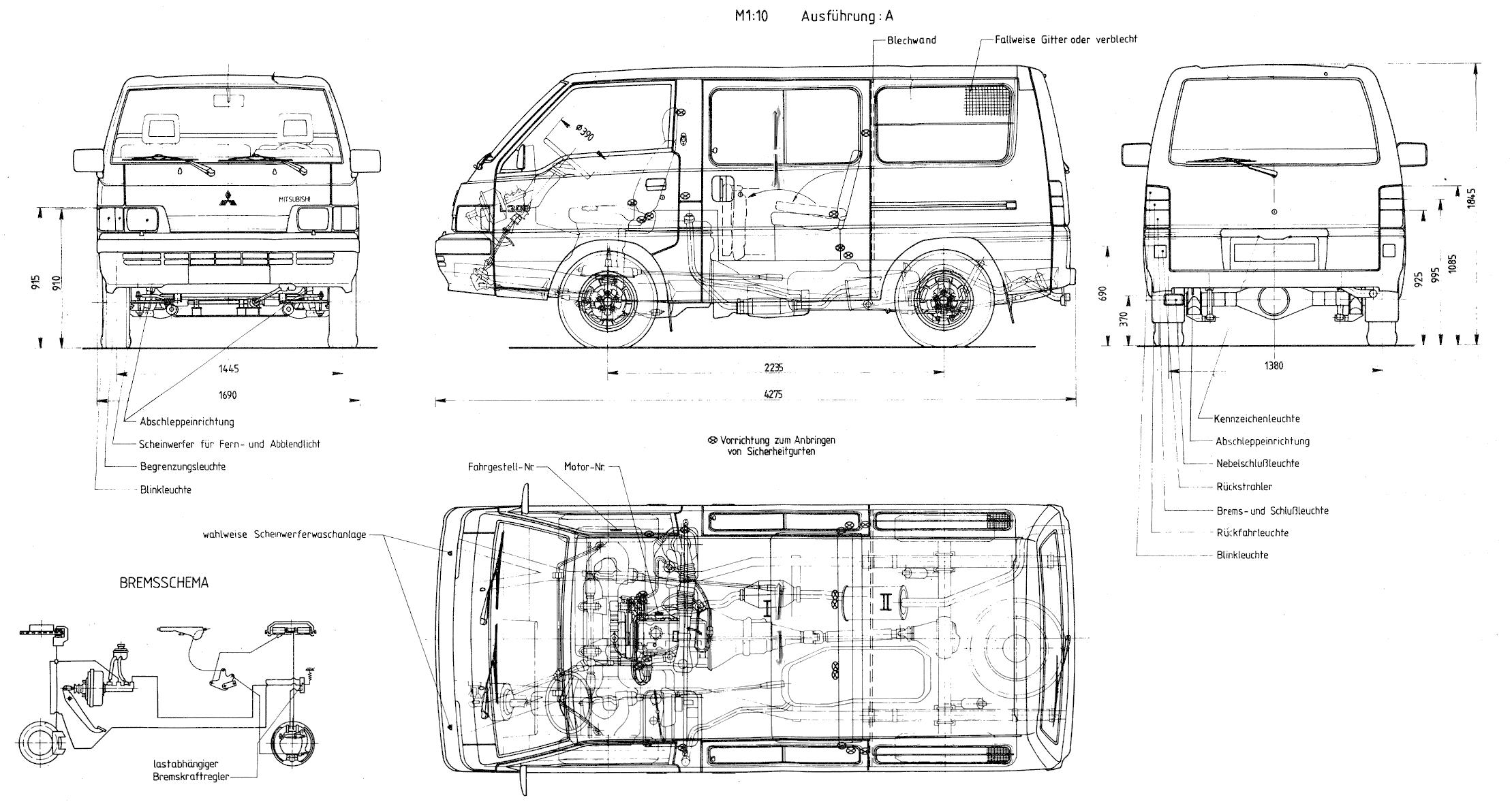 Mitsubishi L300 blueprint