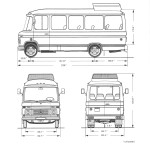 Mercedes-Benz O309D blueprint