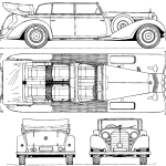 Mercedes-Benz 770 blueprint