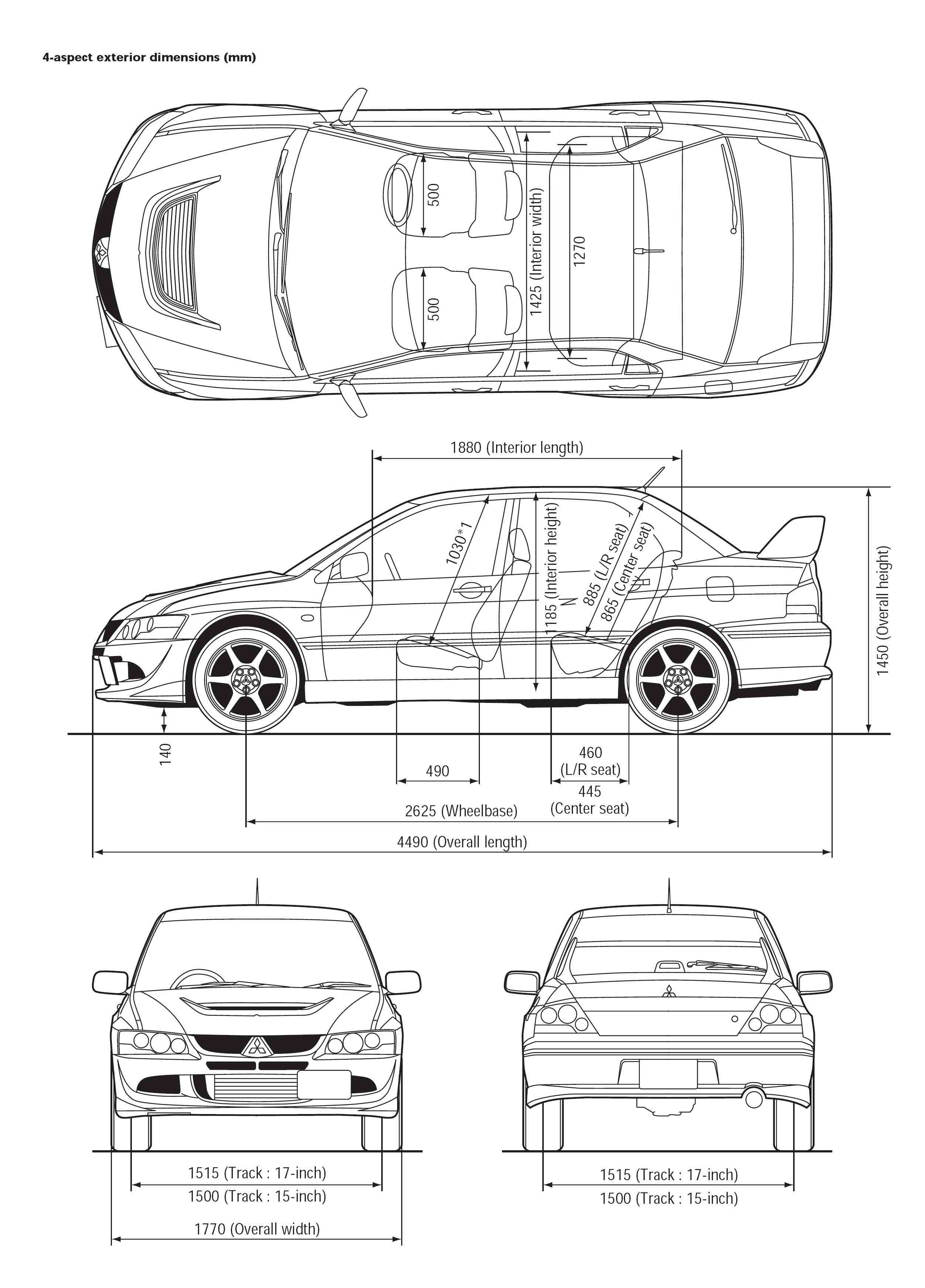 Mitsubishi Lancer Evolution blueprint