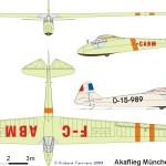 Akaflieg München Mü13D blueprint