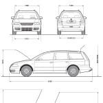 Volkswagen Passat B5 blueprint