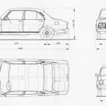 Peugeot 504 blueprint