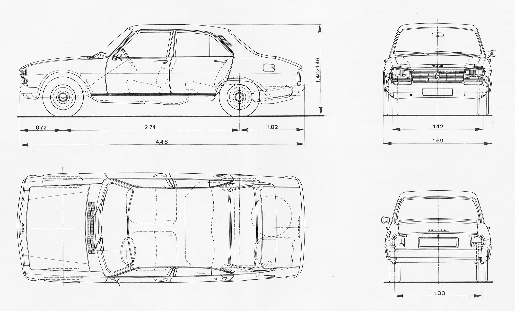 Peugeot 504 Blueprint Download Free Blueprint For 3d Modeling