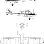 Piper PA-18 blueprint