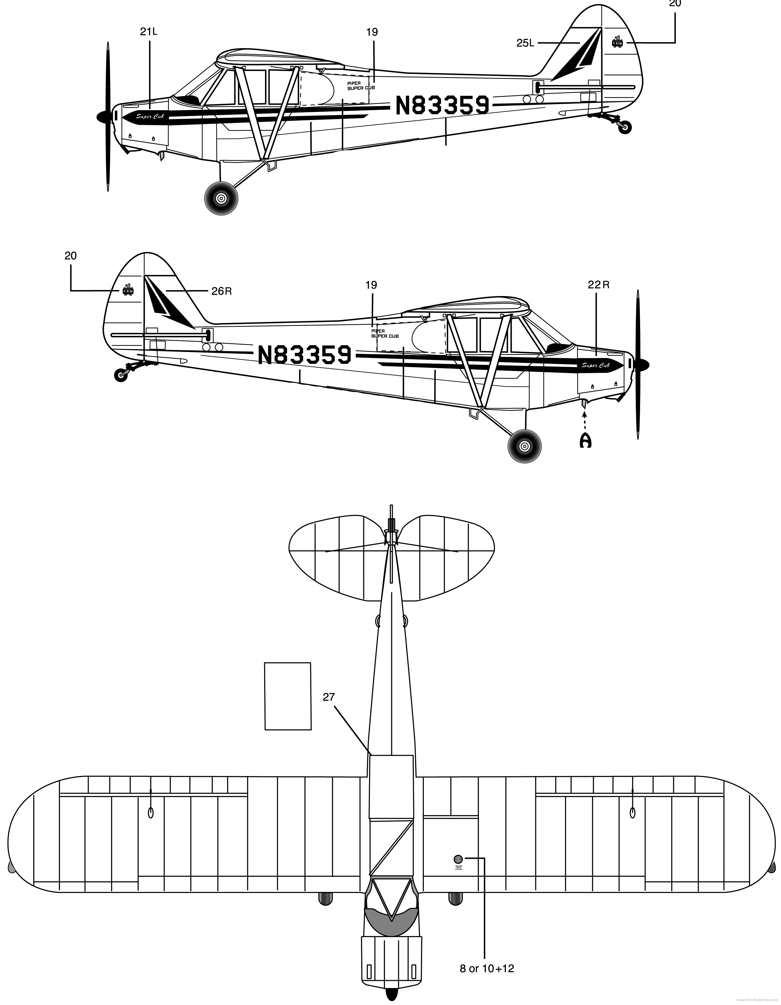 Piper pa 18 super cub blueprint download free blueprint for 3d piper pa 18 blueprint malvernweather Image collections